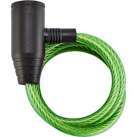 Axa Zipp Candado Cable Espiral Ø8mm 120cm, verde